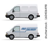 white delivery van realistic...   Shutterstock .eps vector #160406498