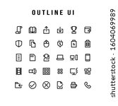 a set of user interface icons....