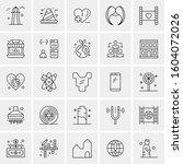 set of 25 universal business...   Shutterstock .eps vector #1604072026