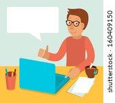 vector character wearing... | Shutterstock .eps vector #160409150