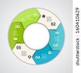 vector circle arrows for...   Shutterstock .eps vector #160410629