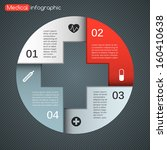 plus sign info graphic ... | Shutterstock .eps vector #160410638
