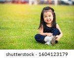 Portrait Of Happy Cute Little...