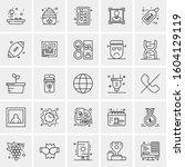 set of 25 universal business...   Shutterstock .eps vector #1604129119