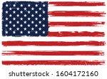 grunge old flag of united...   Shutterstock .eps vector #1604172160