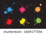 set of color splashes.ink...   Shutterstock .eps vector #1604177356