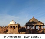A beautiful view of the royal cenotaphs or Chhateris also known as Chhatedi in the town of Bhuj in the Kutch Region of Gujarat in India