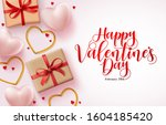 happy valentines day greeting... | Shutterstock .eps vector #1604185420