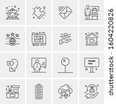 16 universal business icons... | Shutterstock .eps vector #1604220826