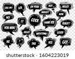 speech bubbles set on... | Shutterstock . vector #1604223019