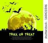 trick or treat halloween sign... | Shutterstock .eps vector #160423346