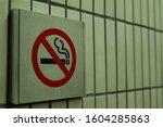 no smoking sign at subway... | Shutterstock . vector #1604285863