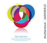 abstract symbol in vector... | Shutterstock .eps vector #160430513