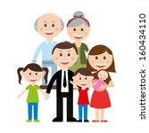 family design over white... | Shutterstock .eps vector #160434110