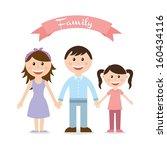 family design over white... | Shutterstock .eps vector #160434116