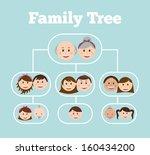 family design over blue... | Shutterstock .eps vector #160434200