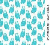 owls seamless pattern   Shutterstock .eps vector #160435016