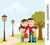 family design over landscape... | Shutterstock .eps vector #160435094