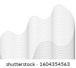 abstract architecture wave 3d... | Shutterstock .eps vector #1604354563
