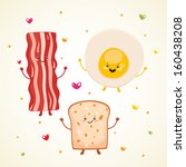 american cuisine,background,bacon,bread,break,breakfast,bun,carbohydrate,card,cartoon,characters,chicken,cholesterol,clip art,collection
