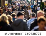 anonymous crowd of people... | Shutterstock . vector #160438778