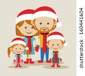 merry christmas  design over... | Shutterstock .eps vector #160441604