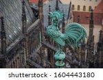 Bright Blue Greenish Rooster....