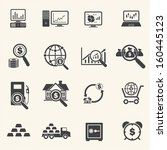 big data  and finance icons set | Shutterstock .eps vector #160445123
