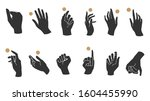 hand linear style icon  hands... | Shutterstock .eps vector #1604455990