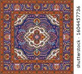 colorful oriental mosaic square ...   Shutterstock .eps vector #1604457736