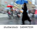 business people walking in the... | Shutterstock . vector #160447334
