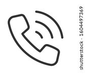 phone call  linear icon.... | Shutterstock .eps vector #1604497369