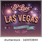 greeting card from las vegas  ... | Shutterstock .eps vector #160453844