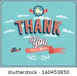 thank you typographic design.... | Shutterstock .eps vector #160453850