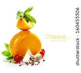 cheese and italian ingredients... | Shutterstock . vector #160455506