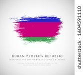 happy independence day kuban... | Shutterstock .eps vector #1604591110