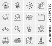 16 universal business icons...   Shutterstock .eps vector #1604597590