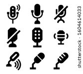 microphone icon isolated sign...
