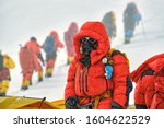 High Altitude Climber With...