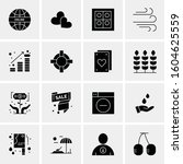 16 universal business icons... | Shutterstock .eps vector #1604625559