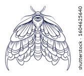 eyed hawk moth illustration ... | Shutterstock .eps vector #1604625640