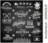 christmas set   labels  emblems ... | Shutterstock .eps vector #160462619