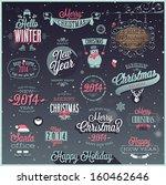 christmas set   labels  emblems ... | Shutterstock .eps vector #160462646