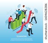 teamwork efficient... | Shutterstock .eps vector #1604628286