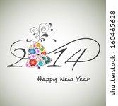 happy new year 2014 celebration ... | Shutterstock .eps vector #160465628