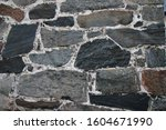 Very old stone wall from church in Finland,