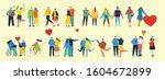 happy valentine's day. hands... | Shutterstock .eps vector #1604672899
