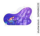 positive businessman doing big... | Shutterstock .eps vector #1604686120