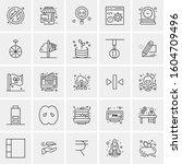 set of 25 universal business... | Shutterstock .eps vector #1604709496