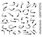 hand drawn filigree arrows....   Shutterstock . vector #1604719276